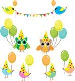 Grupo de pássaros do partido Imagens de Stock Royalty Free