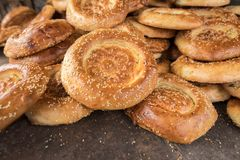 Grupo de pães lisos naan imagem de stock royalty free