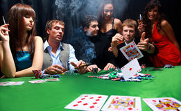 Grupo de póker siniestro imagenes de archivo