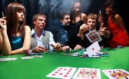 Grupo de póquer sinistro Imagens de Stock