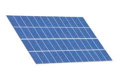 Grupo de painéis solares isolados no branco Fotografia de Stock Royalty Free