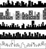 Grupo de paisagens da cidade  Fotografia de Stock