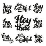 Grupo de palavras tiradas mão Imagens de Stock Royalty Free