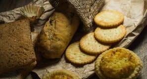 Grupo de pan cocido Imagen de archivo libre de regalías