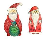 Grupo de Papai Noel engraçado Imagem de Stock