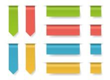 Grupo de papel colorido do molde das abas do estilo Ilustração do vetor Imagens de Stock Royalty Free