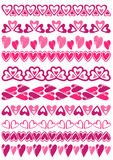Grupo de papel de laço com coração, vetor Foto de Stock