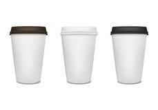 Grupo de papel do copo de café Foto de Stock