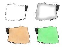 Grupo de papel queimado na borda ilustração stock