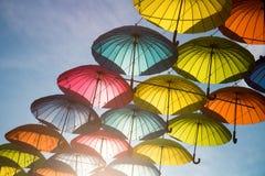 Grupo de paraguas imagen de archivo