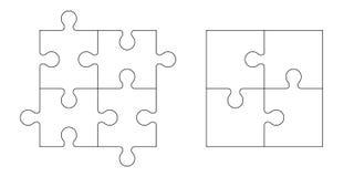 Grupo de partes do enigma Imagem de Stock