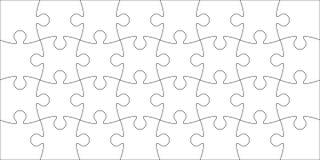 Grupo de partes do enigma Foto de Stock Royalty Free