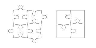 Grupo de partes do enigma Imagens de Stock