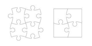Grupo de partes do enigma Fotografia de Stock Royalty Free