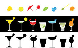 Grupo de partido de cocktail colorido do paraíso Imagens de Stock Royalty Free