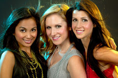 Grupo de partying das mulheres Imagem de Stock Royalty Free