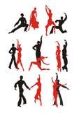 Grupo de Paso Doble da dança Imagens de Stock Royalty Free