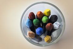 Grupo de pastéis coloridos fotos de stock