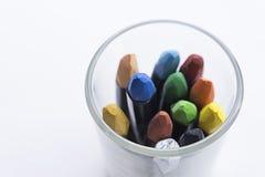 Grupo de pastéis coloridos - no branco imagens de stock