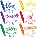 Grupo de pastéis da coloração Fotografia de Stock