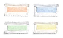 Grupo de pastilhas elásticas desempacotadas da vista superior Imagens de Stock Royalty Free