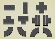 Grupo de peças da estrada Ilustração do Vetor