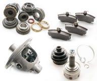 Grupo de peças de automóvel Imagens de Stock