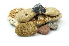 Grupo de pedras contínuas multi-coloridas Foto de Stock Royalty Free