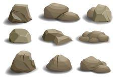 Grupo de pedras naturais Fotos de Stock