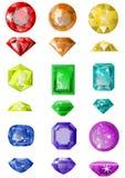 Grupo de pedras preciosas Fotografia de Stock