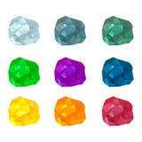 Grupo de pedras preciosas coloridos Fotos de Stock Royalty Free