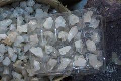 Grupo de pedras preciosas minerais naturais Fotos de Stock Royalty Free