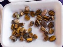 Grupo de pedras preciosas minerais naturais Foto de Stock