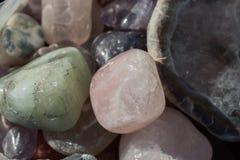 Grupo de pedras preciosas minerais naturais Imagens de Stock Royalty Free