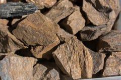 Grupo de pedras preciosas minerais naturais Fotografia de Stock