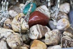 Grupo de pedras preciosas minerais naturais do vário tipo Foto de Stock Royalty Free