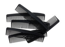 Grupo de peines genéricos de la peluquería de caballeros Imagen de archivo libre de regalías
