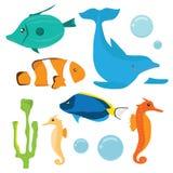 Grupo de peixes ilustração royalty free