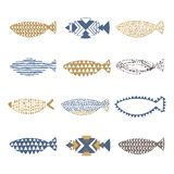 Grupo de peixes decorativos Imagem de Stock Royalty Free