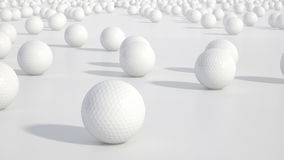 Grupo de pelotas de golf Imagen de archivo libre de regalías