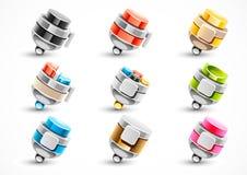Grupo de penas coloridas diferentes Ilustração do Vetor