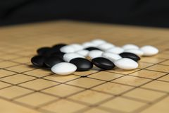 Grupo de penhores no gameboard imagens de stock