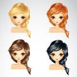 Grupo de penteado da trança Foto de Stock