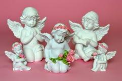 Grupo de pequeños ángeles Imagenes de archivo