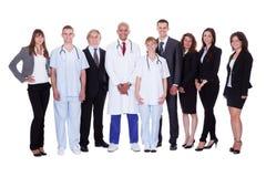 Grupo de personal hospitalario Fotos de archivo