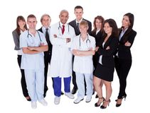 Grupo de personal hospitalario Fotografía de archivo