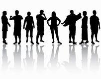 Grupo de personas stock de ilustración