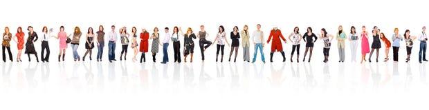Grupo de personas aislado sobre blanco Foto de archivo libre de regalías