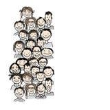 Grupo de personas, bosquejo para su diseño Foto de archivo
