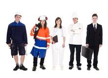 Grupo de personas con diverso empleo Foto de archivo libre de regalías